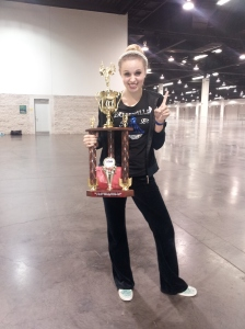 Olivia, my daughter, 1st place -- performance to success